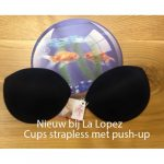 Cups strapless met push-up