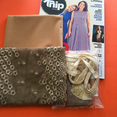 Bruin lingerie pakket