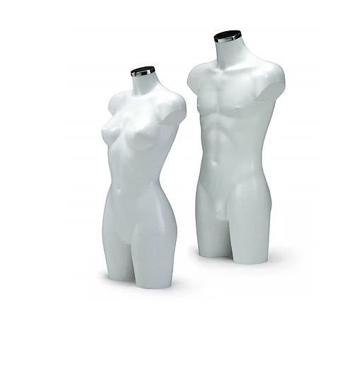 Lingerie torso wit mat