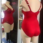 figuurcorregerende bodystocking-rood