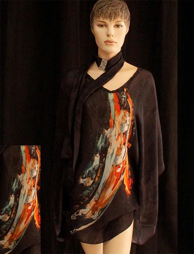 Kimono silk the flam F00141