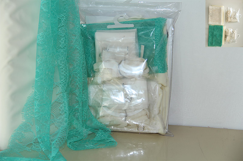 Lingerie pakket mint creme-en body